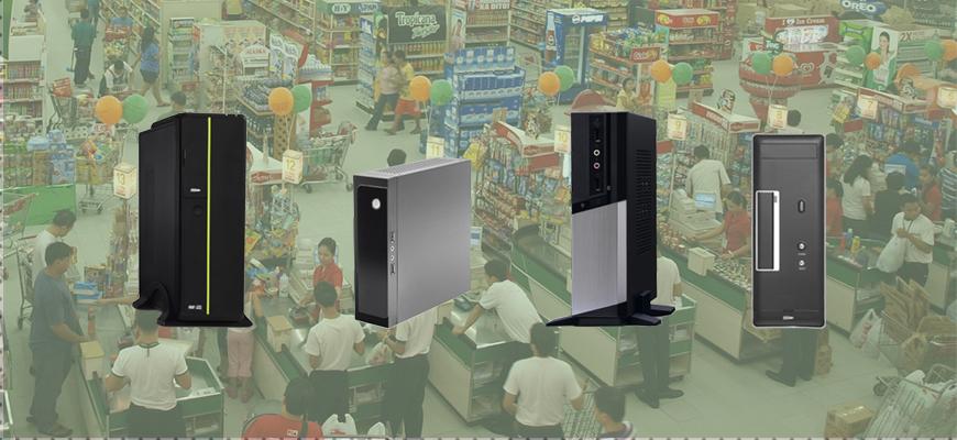 Capa Computador Caixa Supermercado